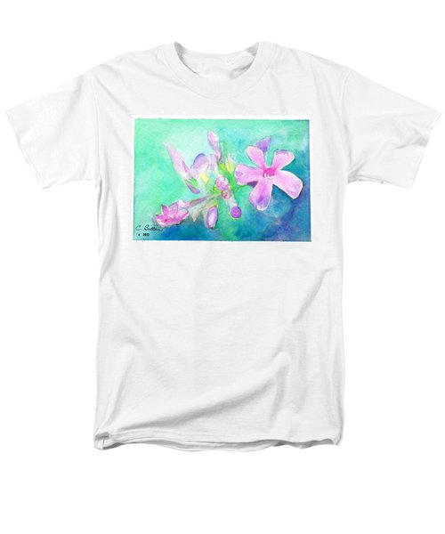 Tropical Flowers Men's T-Shirt  (Regular Fit) by C Sitton