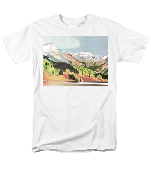 Trout Lake Colorado Men's T-Shirt  (Regular Fit) by Dan Miller