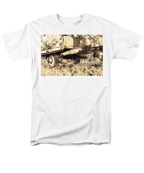 Truck Wreckage II Men's T-Shirt  (Regular Fit) by Cassandra Buckley
