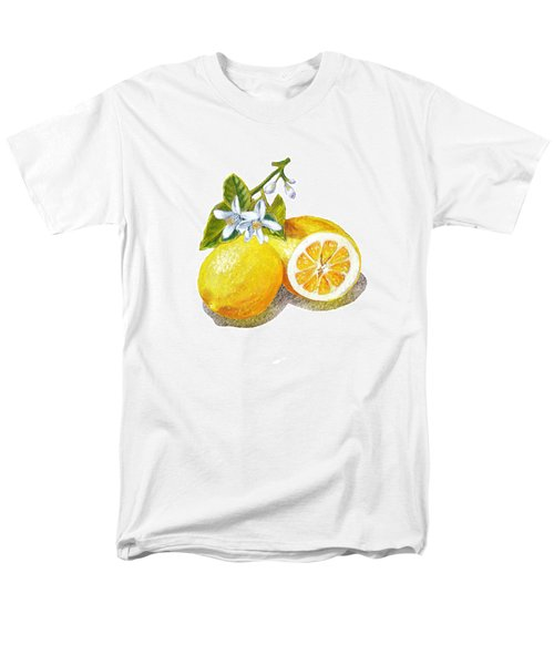 Men's T-Shirt  (Regular Fit) featuring the painting Two Happy Lemons by Irina Sztukowski