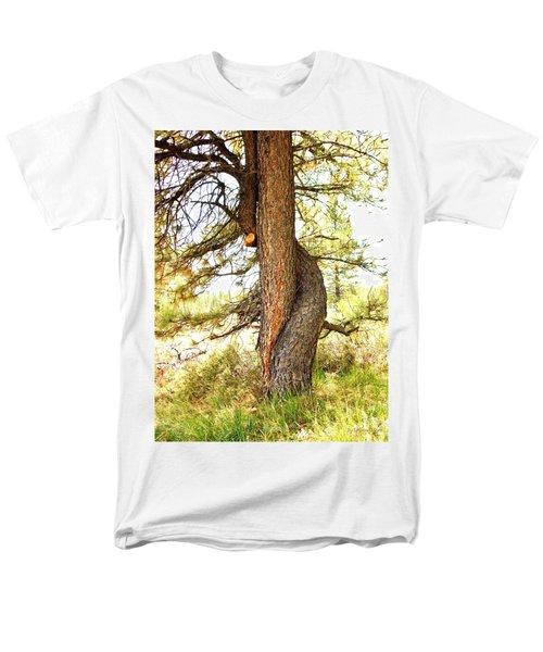 Two Pines Intertwined  Men's T-Shirt  (Regular Fit) by Deborah Moen