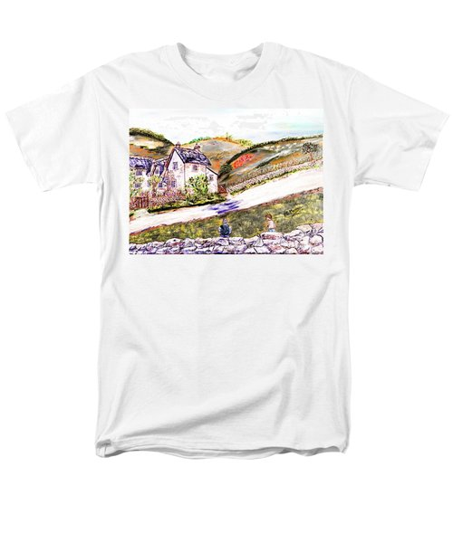 Men's T-Shirt  (Regular Fit) featuring the painting An Afternoon In June by Loredana Messina