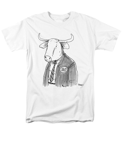 New Yorker October 24th, 2016 Men's T-Shirt  (Regular Fit) by Rich Sparks
