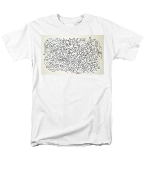Men's T-Shirt  (Regular Fit) featuring the drawing Urban Planning by Nancy Kane Chapman