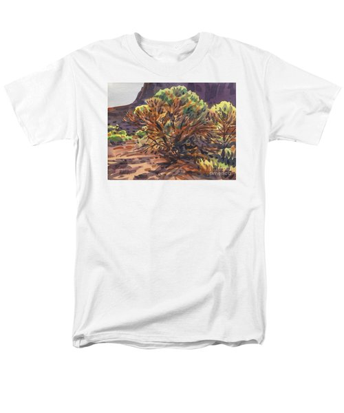 Men's T-Shirt  (Regular Fit) featuring the painting Utah Juniper by Donald Maier