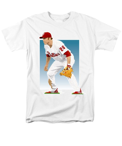 Men's T-Shirt  (Regular Fit) featuring the digital art Utley In The Ready by Scott Weigner