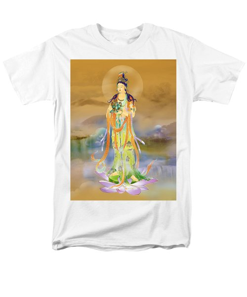 Men's T-Shirt  (Regular Fit) featuring the photograph Vaidurya  Kuan Yin by Lanjee Chee