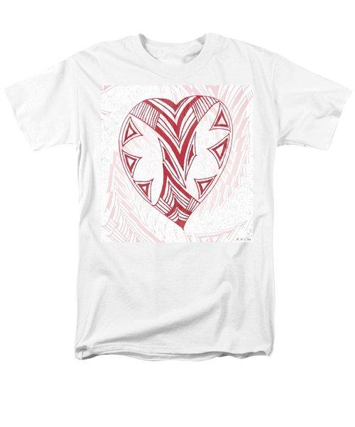 Valentine Heart Men's T-Shirt  (Regular Fit) by Amanda Holmes Tzafrir