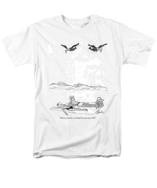 Valerie, I Think We Should Increase Our S.p.f Men's T-Shirt  (Regular Fit) by Edward Frascino