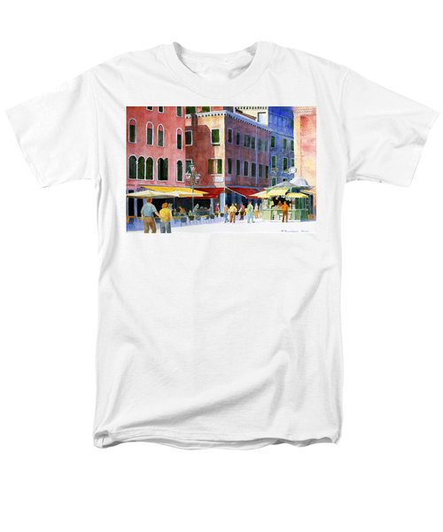 Men's T-Shirt  (Regular Fit) featuring the painting Venetian Piazza by Roger Rockefeller