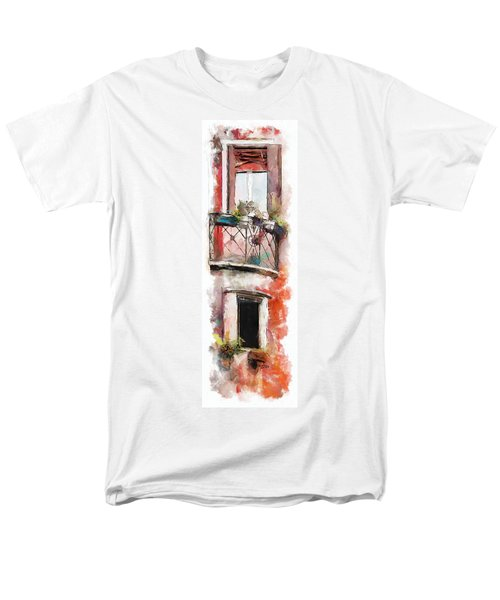 Men's T-Shirt  (Regular Fit) featuring the painting Venetian Windows 4 by Greg Collins