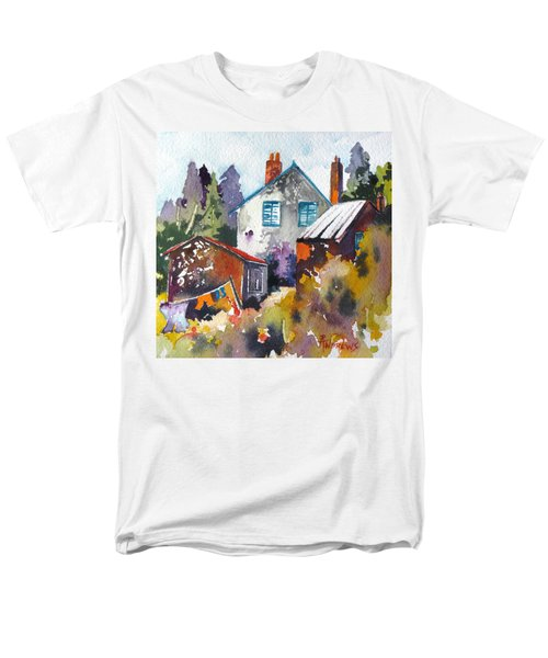 Men's T-Shirt  (Regular Fit) featuring the painting Village Life 1 by Rae Andrews
