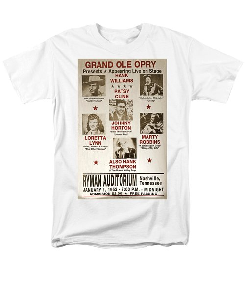 Vintage 1953 Grand Ole Opry Poster Men's T-Shirt  (Regular Fit) by John Stephens