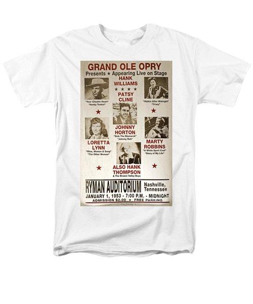 Vintage 1953 Grand Ole Opry Poster Men's T-Shirt  (Regular Fit)