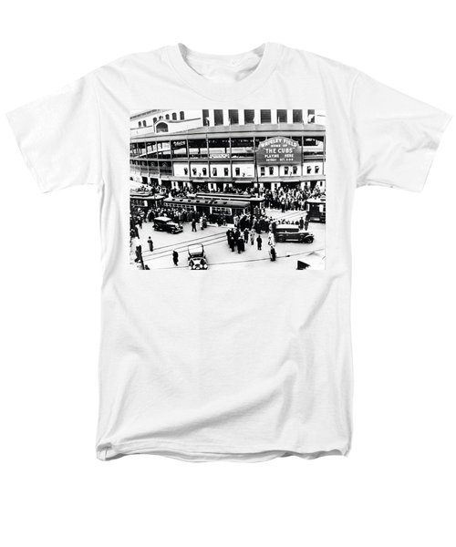 Vintage Wrigley Field Men's T-Shirt  (Regular Fit) by Bill Cannon