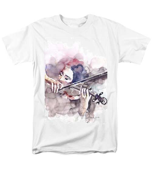Men's T-Shirt  (Regular Fit) featuring the painting Violin Prelude by Faruk Koksal