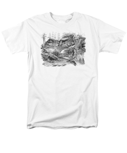 Virginia Kendall Ledges - Cuyahoga Valley National Park Men's T-Shirt  (Regular Fit) by Kelli Swan