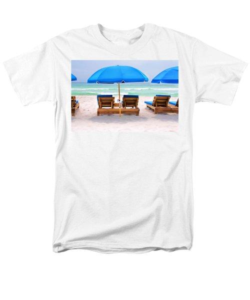Men's T-Shirt  (Regular Fit) featuring the photograph Panama City Beach Digital Painting by Vizual Studio