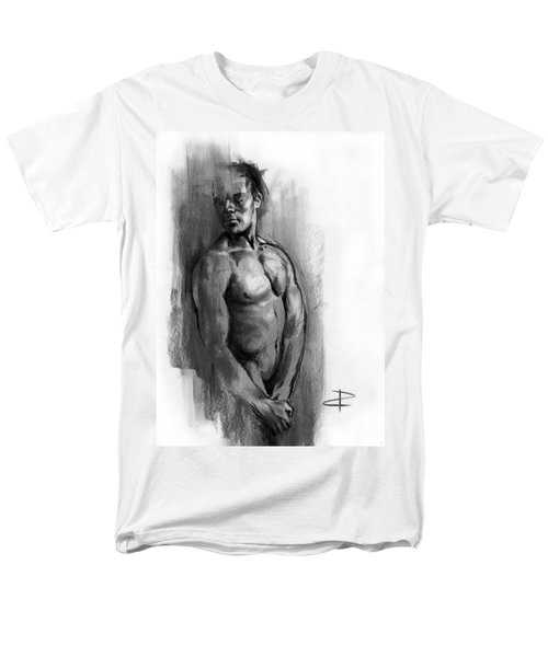 Men's T-Shirt  (Regular Fit) featuring the drawing Waiting by Paul Davenport
