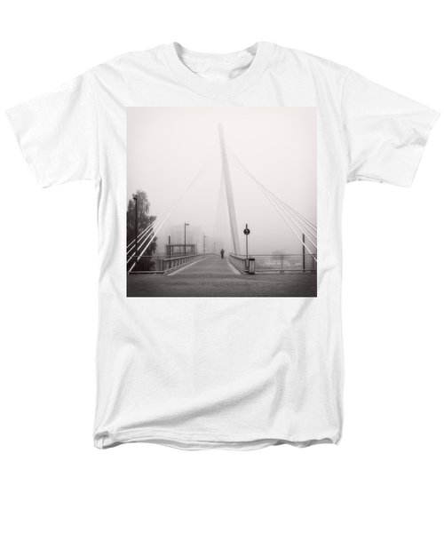 Men's T-Shirt  (Regular Fit) featuring the photograph Walking Through The Mist by Ari Salmela