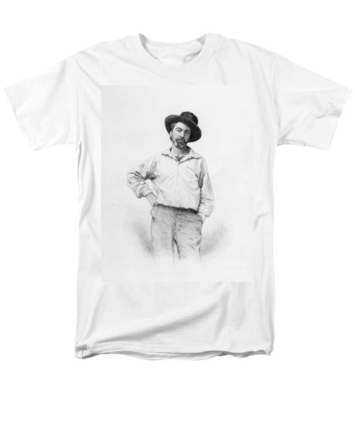 Walt Whitman Frontispiece To Leaves Of Grass Men's T-Shirt  (Regular Fit) by American School