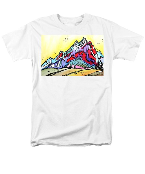 Men's T-Shirt  (Regular Fit) featuring the painting Waning Seasons In The Tetons by Nicole Gaitan