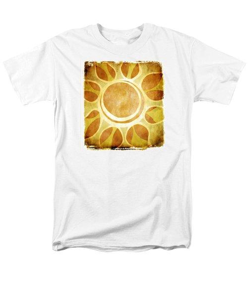 Warm Sunny Flower Men's T-Shirt  (Regular Fit) by Lenny Carter