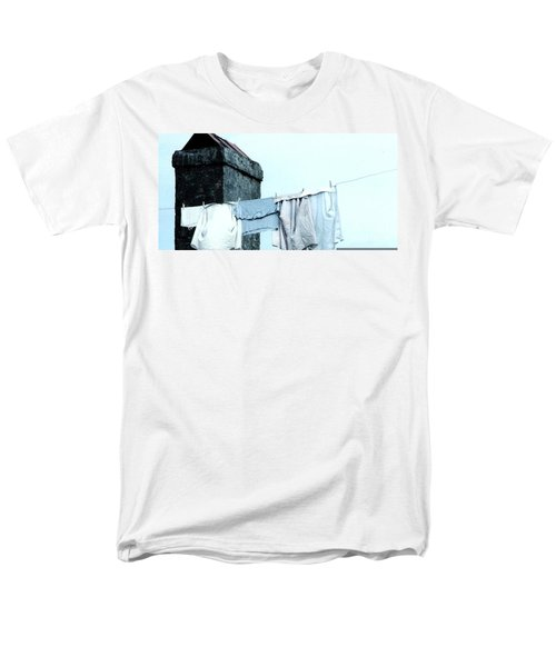 Men's T-Shirt  (Regular Fit) featuring the photograph Wash Day Blues In New Orleans Louisiana by Michael Hoard