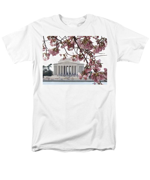 Men's T-Shirt  (Regular Fit) featuring the photograph Washington Dc In Bloom by Jennifer Wheatley Wolf