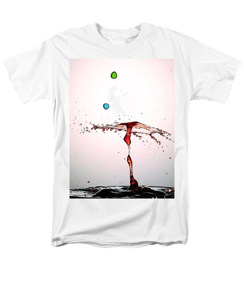 Water Droplets Collision Liquid Art 11 Men's T-Shirt  (Regular Fit) by Paul Ge