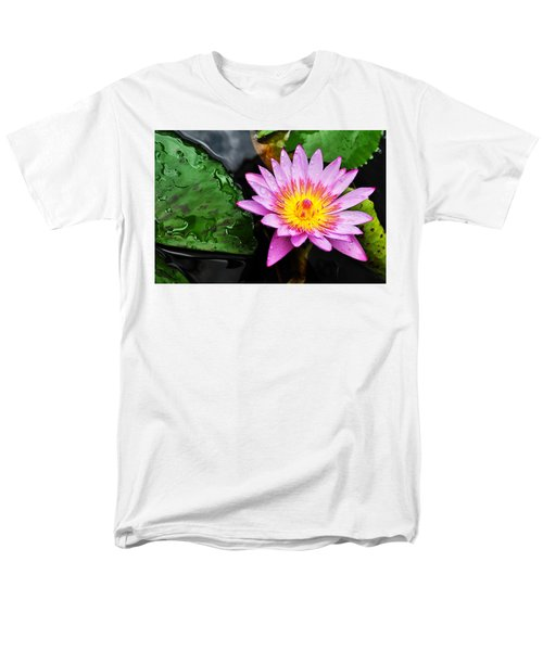 Water Lily Men's T-Shirt  (Regular Fit) by Denise Bird