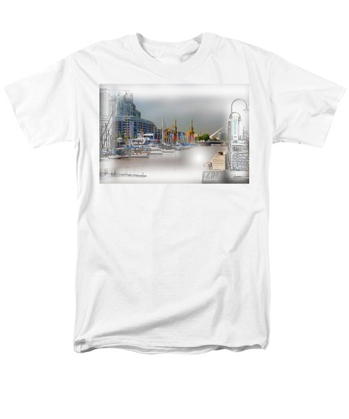 Water Way Buenos Aires Men's T-Shirt  (Regular Fit) by Diane Dugas