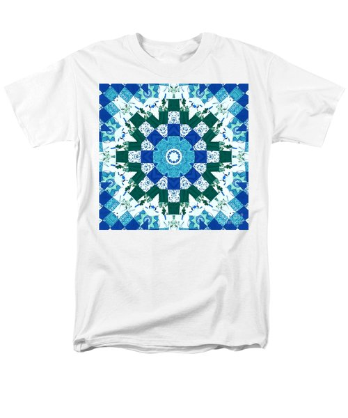 Watercolor Quilt Men's T-Shirt  (Regular Fit) by Barbara Griffin