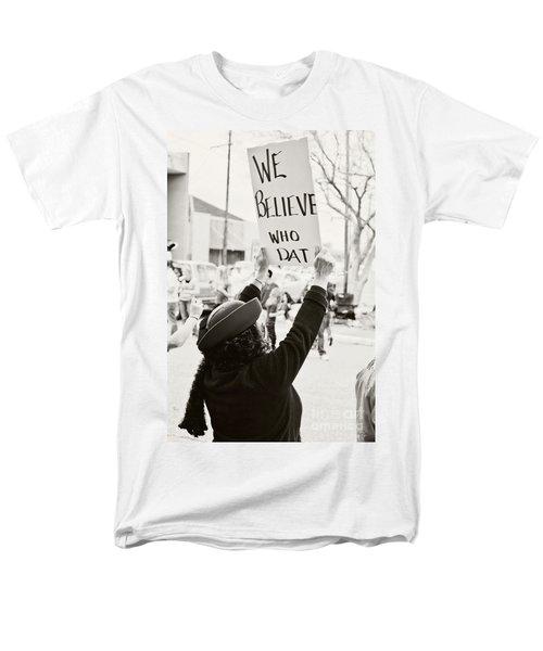 We Believe Men's T-Shirt  (Regular Fit) by Scott Pellegrin