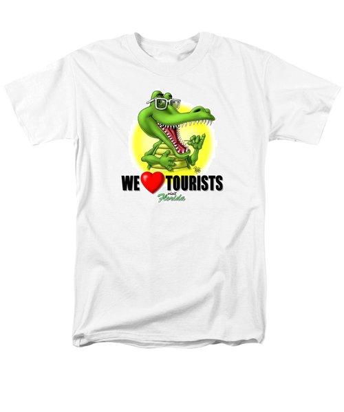 Men's T-Shirt  (Regular Fit) featuring the digital art We Love Tourists Gator by Scott Ross