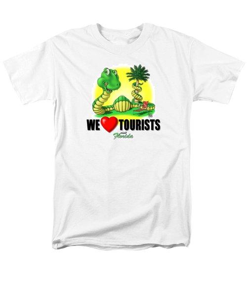 Men's T-Shirt  (Regular Fit) featuring the digital art We Love Tourists Snake by Scott Ross