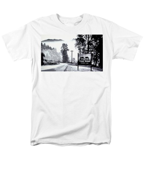 Men's T-Shirt  (Regular Fit) featuring the painting Welcome To Twin Peaks by Luis Ludzska