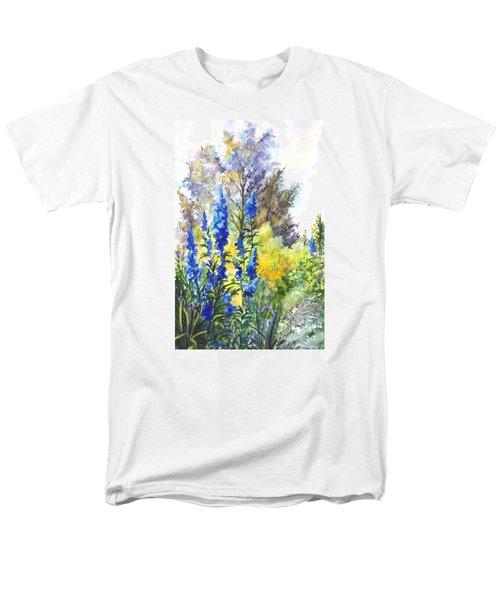 Where The Delphinium Blooms Men's T-Shirt  (Regular Fit) by Carol Wisniewski