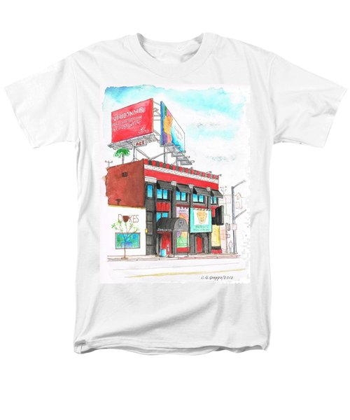 Whisky-a-go-go In West Hollywood - California Men's T-Shirt  (Regular Fit) by Carlos G Groppa