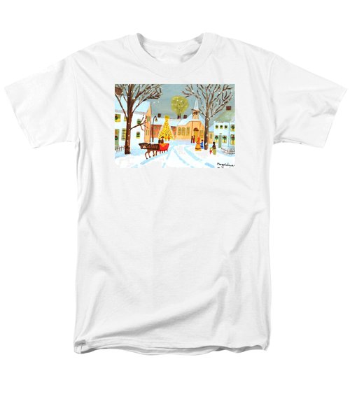 White Christmas Men's T-Shirt  (Regular Fit) by Magdalena Frohnsdorff