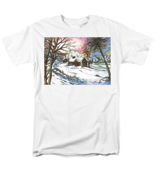 White Christmas Men's T-Shirt  (Regular Fit) by Teresa White