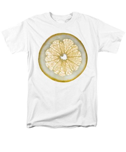 White Grapefruit Slice Men's T-Shirt  (Regular Fit) by Steve Gadomski