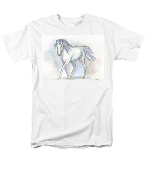 White Pony Men's T-Shirt  (Regular Fit) by Roz Abellera Art