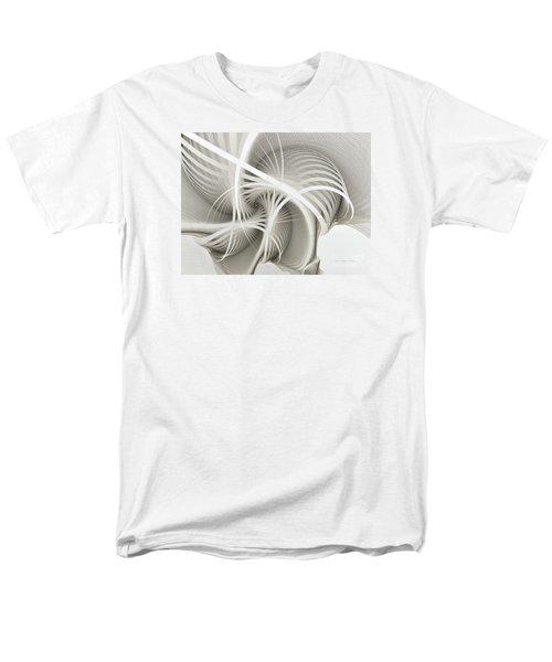 White Ribbons Spiral Men's T-Shirt  (Regular Fit) by Karin Kuhlmann