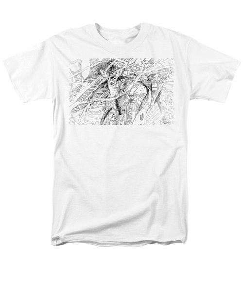 White-tail Encounter Men's T-Shirt  (Regular Fit) by Bern Miller