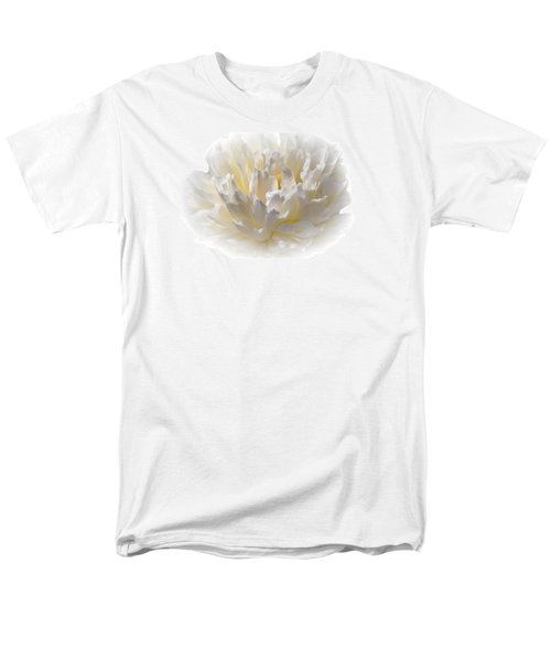 White Peony With A Dash Of Yellow Men's T-Shirt  (Regular Fit) by Sherman Perry