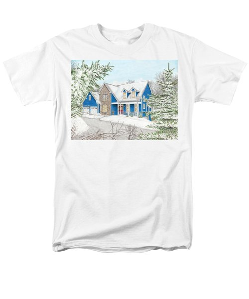 Men's T-Shirt  (Regular Fit) featuring the painting Wiley House by Albert Puskaric
