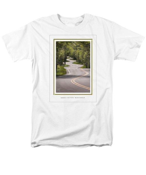 Winding Road Door County Men's T-Shirt  (Regular Fit) by Barbara Smith