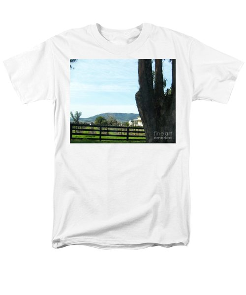 Men's T-Shirt  (Regular Fit) featuring the photograph Winery by Bobbee Rickard