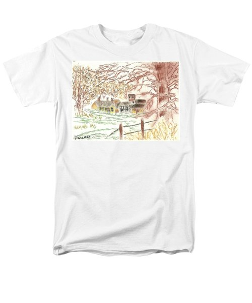 Winter In The Village Men's T-Shirt  (Regular Fit) by Tracey Williams